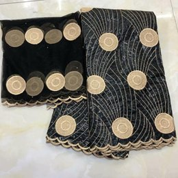 Wholesale bazin riche fabric for sale - Group buy Bazin riche swiss getzner high quality bazin lace tissu african lace fabric cotton riche getzner yards KY