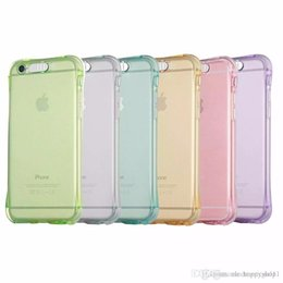 Chinese  Phone Back Case Fundas for IPhone 678 S Plus X Samsung Galaxy S7 S6 Edge A3 A5 A7(2017) J5 J7 Cover Anti-Knock Soft TPU LED Flash manufacturers