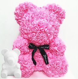 $enCountryForm.capitalKeyWord Australia - 1Pcs Polystyrene Styrofoam White Foam Bear Mold Artificial Flower Head Rose Teddy Valentine's Day Gifts Party Wedding Decoration