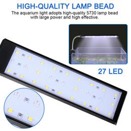 Flexible clamp online shopping - ABEDOE DC V LED Aquarium Light Fish Tank Lamp With Flexible Clamp White And Blue Color Fishbowl Lighting AC V