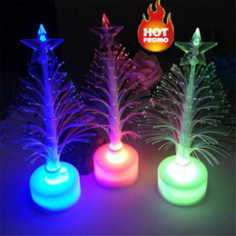 Table Charm Wholesale Australia - 2019 Artificial Christmas Tree dazzle Hot Merry LED Color Changing Mini Christmas Xmas Tree Home Table Party Decor Charm by DHL