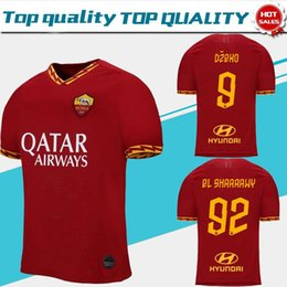 ffc0468034d New Roma 2019 home red # 9 DZEKO #16 DE ROSSI Soccer Jerseys 19 20 A.S.Roma  Soccer Shirts Customized EL SHAARAWY football uniforms Sales