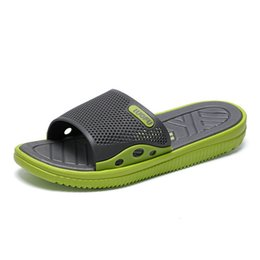 Slippers Summer Shoes Adult Australia - Fashion New Design Anti Slip Adult Men Shoes Sport Slide Slippers Outdoor Indoor Beach Slippers For Man