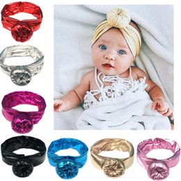 Wholesale Brand Baby hair bow Shine Gold Headband Hair Band Handmade DIY hair accessories for children newborn toddler New Years