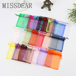 wedding wholesale cosmetic bag Australia - 100pcs lot 17x23cm Organza Bags Drawable Jewelry Display Pouches Wedding Favor Cosmetics Jewelry Packaging Bags Tulle Gift Bag