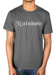 Black White Rainbow Rose NZ - Official Rainbow Long Live Rock And Roll T-Shirt Down Earth Rising Tour Music Funny free shipping Unisex Casual Tshirt top