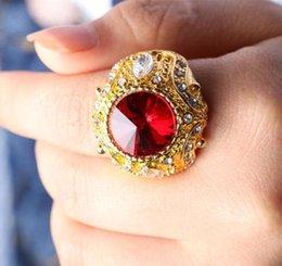 $enCountryForm.capitalKeyWord Australia - Men's Gold Crown Rings inlaid glass gemstone zircon pull that big European and American trade jewelry