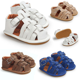 Brown Toddler Sandals NZ - Summer Baby Shoes Toddler Newborn Baby Boys Girls Solid Soft Sole Anti-slip Sandals Shoes Baby Boys Girls Sandals M8Y16