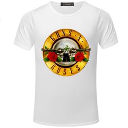 f45b528d9e6a Summer Man s Short Sleeve T-shirt Gun Rose Tshirt Men And Women Short  Sleeve O-neck T-shirt Fashion Street Dress T Shirt S5mc16