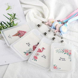 $enCountryForm.capitalKeyWord NZ - Flamingo Pvc Credit Card Bag Cartoon Women Kids Cute Business Passport Id Card Holder Cover Case Card Wallet Porte Carte