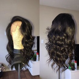 More Body Hair Australia - Lace Front Human Hair Wigs Pre Plucked Full Lace Front Wigs With Baby Hair Brazilian Body Wave Wig
