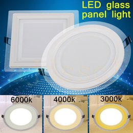 Color Changing panel light online shopping - LED panel led SPOT color change glass led Downlight W W W W Panel Light AC85 V Ceiling Recessed Indoor Lighting