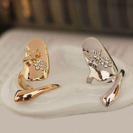 $enCountryForm.capitalKeyWord Australia - Hot sale Fashion Punk Finger Nails Ring Summer Style Gold Silver Plated With Rhinestone Dragonfly Women Fine Jewelry