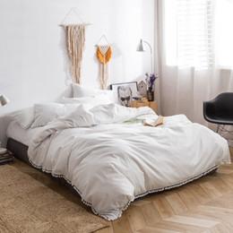 Black Egyptian Cotton Bedding Australia - TUTUBIRD-Luxury Egyptian Solid Color bed linen sheets long staple cotton Bedding Set duvet covers brief modern style bedclothes