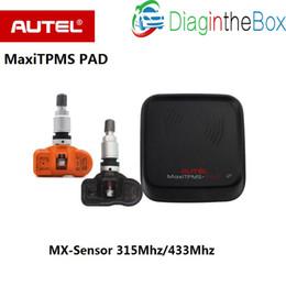 Pressure Connectors Australia - Autel MaxiTPMS PAD Tire Pressure Programming Sensor MX-Sensor 433MHz 315MHz MxSensor Maxi TPMS Pad Tyre Sensor
