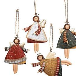 $enCountryForm.capitalKeyWord Australia - 4pcs set Christmas Angel Girl Pendants Christmas Tree Metal Cute Doll Ornament Diy Party Hanging Pendant Wall Decor Y19061103