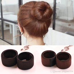 $enCountryForm.capitalKeyWord Australia - Hair Accessories Synthetic Wig Donuts Bud Head Band Ball French Twist Magic DIY Tool Bun Maker Sweet French Dish Made Hair Band