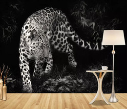 $enCountryForm.capitalKeyWord Australia - European modern wallpaper 3d Black and white wallpapers for living room kids room leopard animal wall papers home decor