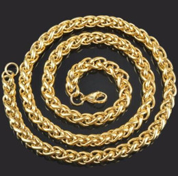 "womens gold plated chains NZ - 14K Gold Plated Stainless Steel Spiga Mens 3mm Chain Womens Necklace 24""New"