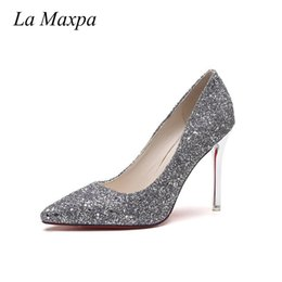 f7e85e735b24 Dress La Maxpa Sexy New Nude Pumps Shoes Woman Bling High Heels Women Pumps  Sandals Wedding Shoes Slipper 2019 Fashion Zapatos Mujer