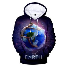 Discount purple hoodie men - LIL DICKY Earth Mens Designer Hoodies Crew Neck Long Sleeve Pullover Hat Homme Sweatshirts Casual Couple Clothing