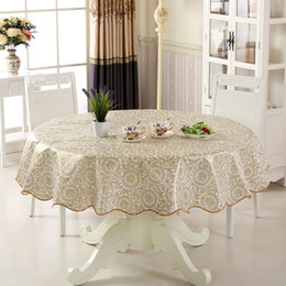 table cloth wholesale Australia - Floral Pattern PVC Round Table Cloth Waterproof Plastic Household Decoration Tablecloth Home Dining Table Cover toalha de mesa
