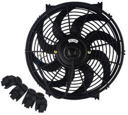 Universal Kit Black 14 Zoll Slim Fan Push Pull elektrische Kühlmittel 12V im Angebot