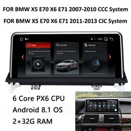 Digital Stereo Systems Australia - COIKA Car DVD Multimedia Player Android 8.1 System For BMW X5 E70 X6 E71 2007-2013 GPS Navi Touch Screen Stereo 6 Core CPU BT SWC USB