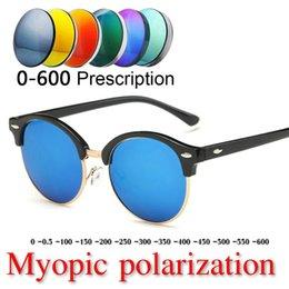 986055b91cf New Fashion Brand men round Myopia polarized Sunglasses Women Men Vintage  Designer Mirror Sun Glasses For Female Lady UV400 NX
