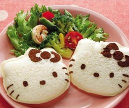 $enCountryForm.capitalKeyWord Australia - Wholesale- 2pcs wholesale Kawaii Hello Kitty Sandwich Mold Bread Cake Mold Maker DIY Mold Cutter Craft Wholesale