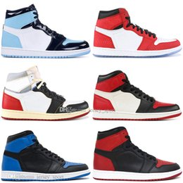 Box Spiders Australia - With Box 1 OG Banned Bred Toe Spider-Man UNC 1s top 3 Mens Basketball Shoes Homage To Home Royal Blue Men Athletic Sports Designer Sneakers