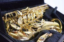 Japan Brand Original YANAGISAWA T-991 T-WO10 Tenor Saxophone Bb Electrophoresis gold tenor sax Professional musical instrument With Case
