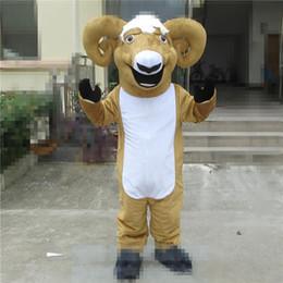 $enCountryForm.capitalKeyWord Australia - Adult size Nice Goat Mascot Costume Halloween Christmas Cartoon Sheep Carnival Dress Full Body Props Outfit