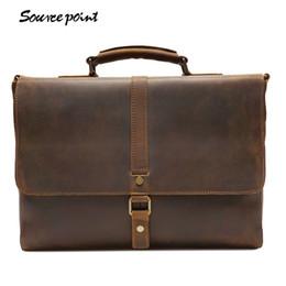 Genuine Leather Handles Australia - YISHEN Vintage Genuine Leather Top-handle Bags Men Fashion Business Briefcase Large Capacity Men Shoulder Crossbody Bag YD-8127# #258246