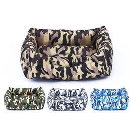 $enCountryForm.capitalKeyWord Australia - Camouflage Dog Bed Winter Warm Dog House For Small Large Dogs With Removable Cushion Cat Kennel Nest Puppy Sofa Mat Pet Supplies