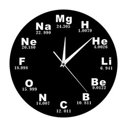 $enCountryForm.capitalKeyWord NZ - Periodic Table Of Elements Wall Art Chemical Symbols Wall Clock Educational ElementaL Display Classroom Clock ZJ0470