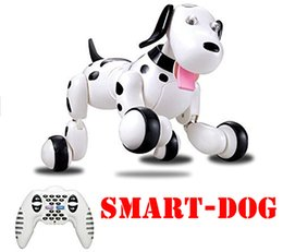 pet gear NZ - 2019 HappyCow 2.4G Wireless RC Dog Remote Control Smart Dog Electronic Pet Educational Children's Toy Dancing Robot Dog