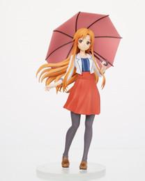 $enCountryForm.capitalKeyWord Australia - Japanese Anime Sword Art Online Yuuki Asuna with Umberlla Statue Figure Cartoon Character Model Toy