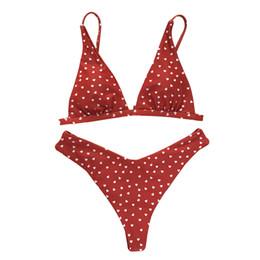 Swimsuit Strap UK - Bikini Set Wire Free Loving Heart Bodysuit Cute Gift Swimming Adults Split Swimsuit Nylon Sweet Bathing Women Strap
