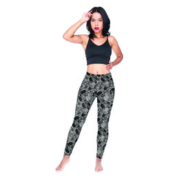 $enCountryForm.capitalKeyWord NZ - Girls Leggings Skull Faces Pattern 3D Graphic Full Printed Comfortable Pencil Pants Women Workout Jeggings Lady Fitness Yoga Pants (Y54697)