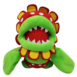 kids video games NZ - Super Mario Plush Toys Petey Piranha Corpse Flower Kids Soft Stuffed Toy Cartoon Game Dolls Toys for Children 19cm