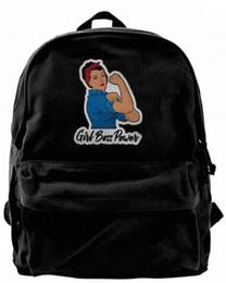 $enCountryForm.capitalKeyWord UK - Girl Boss Power Canvas Shoulder Backpack Cute Backpack For Men & Women Teens College Travel Daypack Black