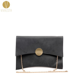 Discount minimalist handbags - STYLISH SUEDE ENVELOPE CLUTCH Women's Elegant Style Simple Minimalist Design Fashion Large Crossbody Chain Clutch B