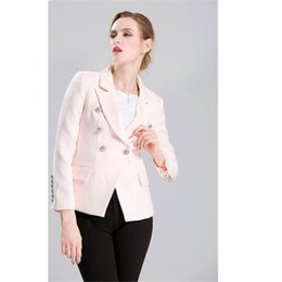 $enCountryForm.capitalKeyWord NZ - womens uniform pants New Styie Double Breasted Women Suits 2 Pieces Jacket+Pants Formal Blazers