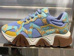 $enCountryForm.capitalKeyWord Australia - Latest Chain Reaction 19FW men sneakers mesh stitching leather casual shoes luxury designer men Squalo platform sports logo casual shoes S65