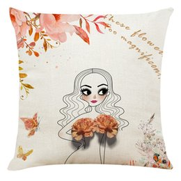 kids pillow cases NZ - Nordic Style Flower Girls Cushion Covers Kids Decoration Pillow Case Home Bedding Set