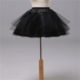White Short Petticoat Australia - Brand New Petticoats for Flower Girl Dress 3 Layers No Hoop White Red Black Short Children Crinoline Girls Kids Child Underskirt