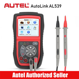 Tester Electrical Tool Australia - AUTEL AutoLink AL539 OBD2 Car Code Reader Scanner Electrical Voltage Test Tool AVO Meter Auto Diagnostic Tool Battery Tester