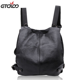 Flashing cell phone covers online shopping - Women general leather backpack student flashes shoulder bag high quality