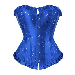 $enCountryForm.capitalKeyWord UK - Gothic Corset Sexy Bustiers Corselet Gothic Clothing Women Waist Trainer With Diamonds Sexy lingerie Push Up Bustier Crop Top